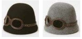 Wool Cloche Hat with Detachable Goggles by Grace