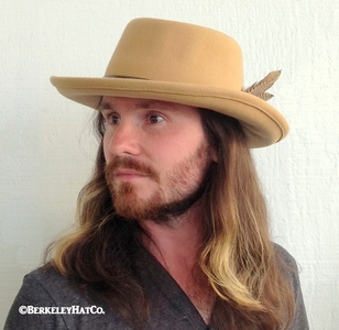 Wool Gambler Hat with Removable Feathers