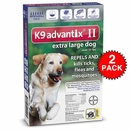 12 MONTH K9 Advantix II BLUE for Extra Large Dogs (over 55 lbs)