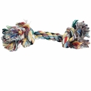 2 Knot Extra Large Tug Rope Bone - Assorted Color (10 inch)
