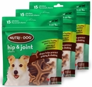 3-PACK 3M Nutri-Dog Hip And Joint Chews SMALL (45 ct)