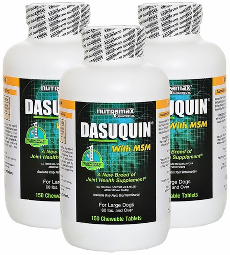3 pack dasuquin for large dogs 60 lbs over with msm 450 chews. Black Bedroom Furniture Sets. Home Design Ideas