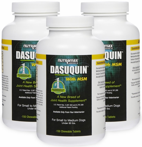 3 pack dasuquin for small medium dogs under 60 lbs with msm 450 chews. Black Bedroom Furniture Sets. Home Design Ideas