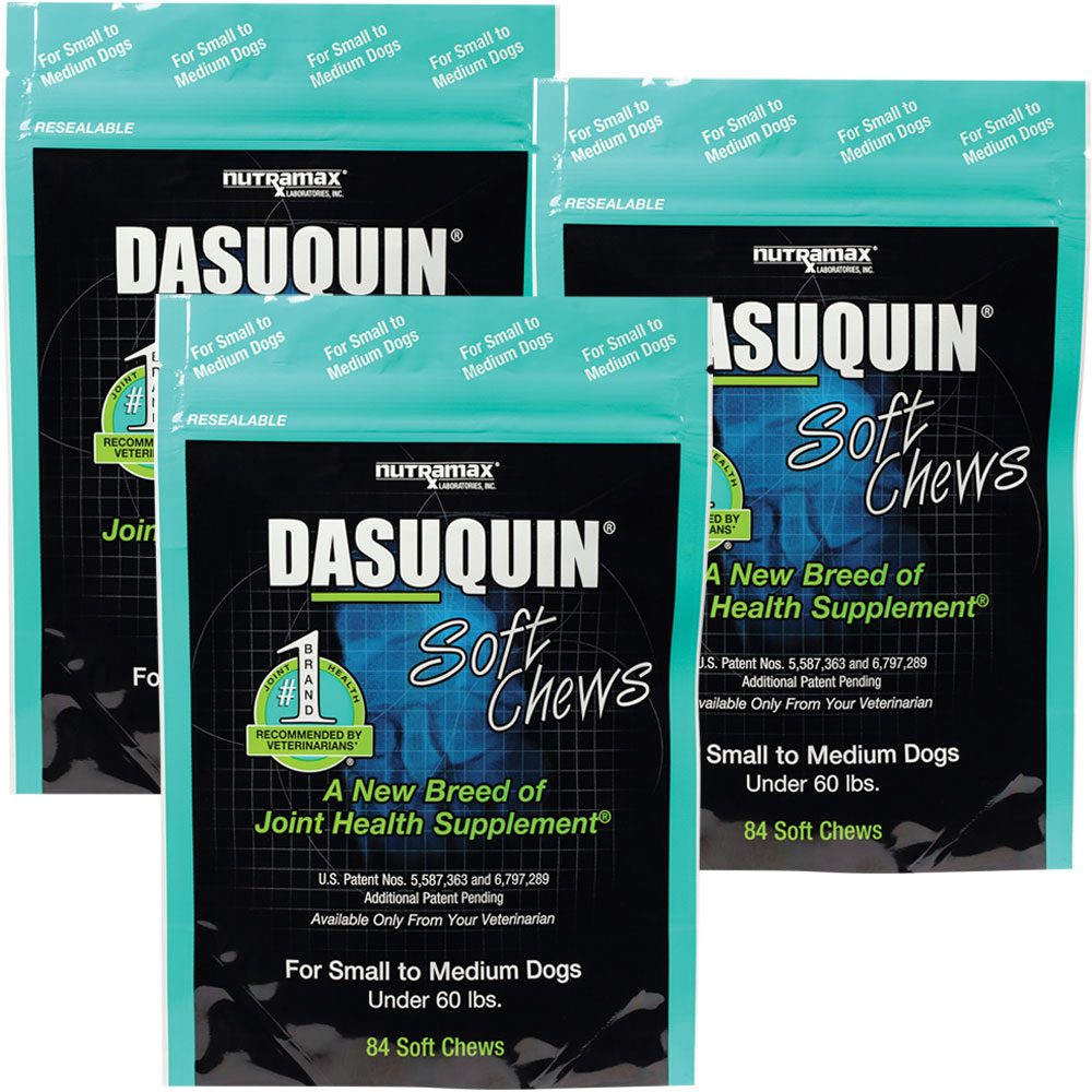 3 pack dasuquin soft chews for small to medium dogs 252 chews. Black Bedroom Furniture Sets. Home Design Ideas