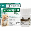 4 MONTH Advantage II Flea Control for Kittens (under 5 lbs) + Tapeworm Dewormer for Cats (3 Tablets)