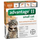 4 MONTH Advantage II Flea Control Medium Cat (for Cats 5-9 lbs.)