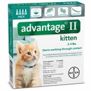4 MONTH Advantage II Flea Control for Kittens (under 5 lbs)