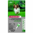 4 MONTH K9 ADVANTIX Green (for dogs up to 10lbs.)