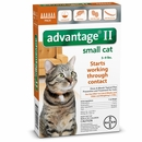 6 MONTH Advantage II Flea Control for Small Cats (5-9 lbs)