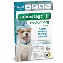 6 MONTH Advantage II Flea Control Medium Dog (for Dogs 11-20 lbs.)