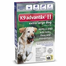 6 MONTH K9 Advantix II BLUE for Extra Large Dogs (over 55 lbs)