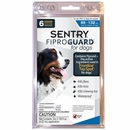 6-PACK Fiproguard Flea & Tick Squeeze-On for Dogs 89-132 lbs