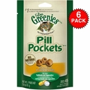 6-PACK GREENIES Pill Pockets for Cats Chicken Formula 9.6 oz (270 count)