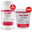 6-PACK Joint MAX Triple Strength (720 Chewable Tablets) + FREE Joint Treats
