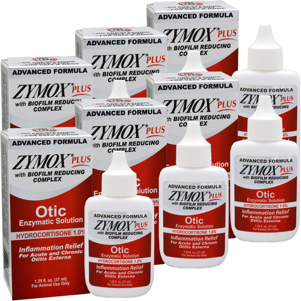 6 Pack Zymox Plus Otic Hc Enzymatic Solution 7 5 Oz