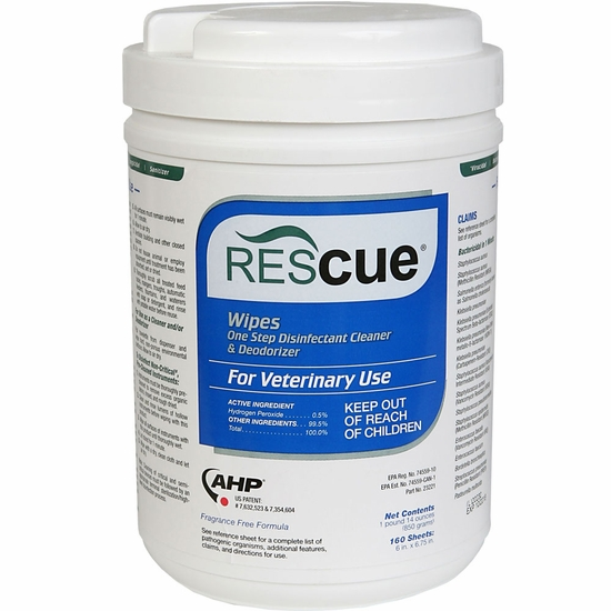 Rescue Disinfectant Wipes (160 count)