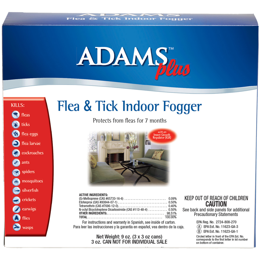 adams plus flea tick indoor fogger 3 oz 3 pack. Black Bedroom Furniture Sets. Home Design Ideas