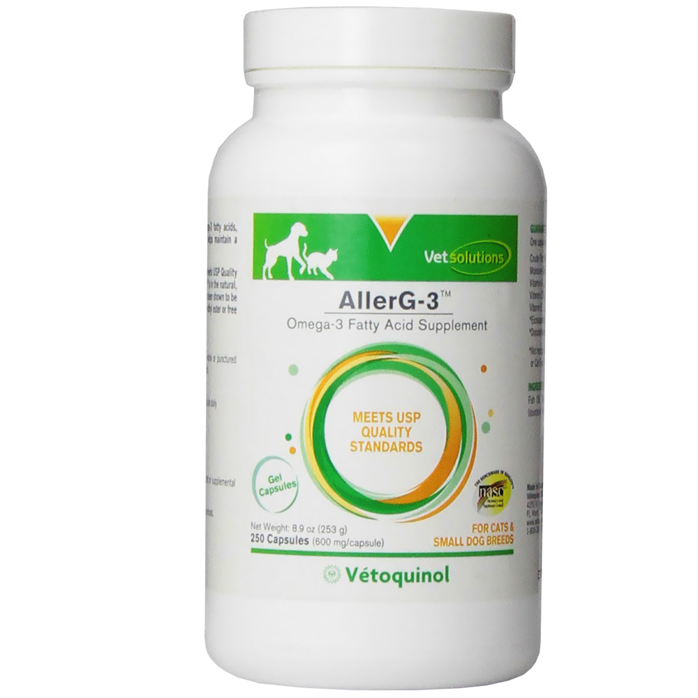 Vet solutions aller g 3 allerg 3 fish oil allerg 3 for Best time to take fish oil