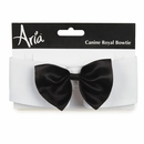 Aria Canine Royale Bowtie Black Satin - Medium