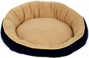 """Aspen Pet Round Bed With Eliptical Bolster (18"""") - Assorted Colors"""