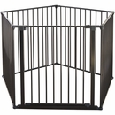 "BabyDan Flex XXL Room Divider / Playspace - Black (35.4""-138"")"