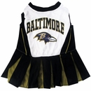 Baltimore Ravens Cheerleader Dog Dress - Medium