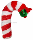 Candy Cane Plush Dog Toy