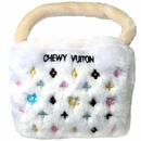 Chewy Vuiton Purse Toy (White) Small