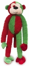 "Christmas Sock Monkey Dog Toy 10"" - Red"