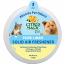 Citrus Magic Pet Odor Absorbing Solid Air Freshener - Pure Linen (8 oz)