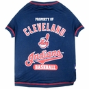 Cleveland Indians Dog Tee Shirt - Large