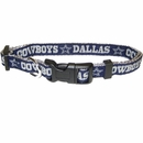 Dallas Cowboys Dog Collar - Ribbon (Medium)