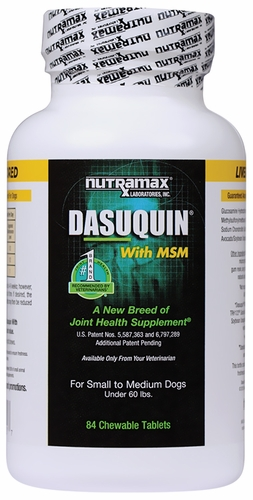 dasuquin for small medium dogs under 60 lbs with msm 84 chews. Black Bedroom Furniture Sets. Home Design Ideas