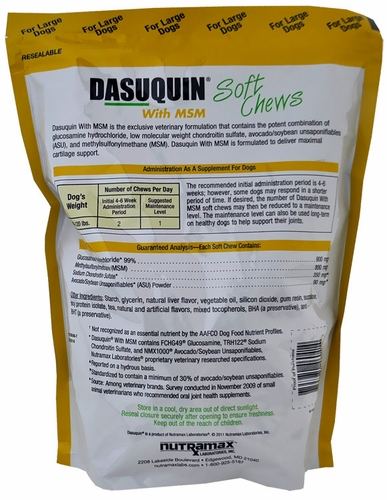 dasuquin soft chews for large dogs with msm 150 chews. Black Bedroom Furniture Sets. Home Design Ideas