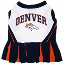 Denver Broncos Cheerleader Dog Dress - Medium
