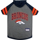 Denver Broncos Hoody Dog Tee Shirt - Medium