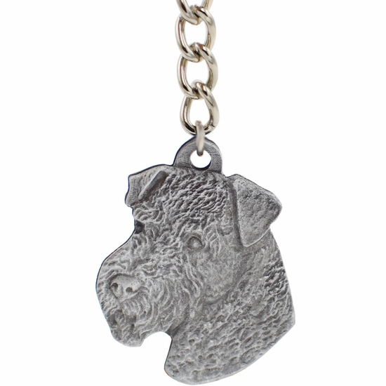 "Dog Breed Keychain USA Pewter - Airedale (2.5"")"