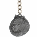 "Dog Breed Keychain USA Pewter - American Eskimo (2.5"")"