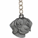 "Dog Breed Keychain USA Pewter - Beagle (2.5"")"