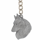 "Dog Breed Keychain USA Pewter - Belgian Tervuren (2.5"")"