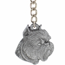 "Dog Breed Keychain USA Pewter - Brussels Griffon (2.5"")"