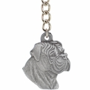 "Dog Breed Keychain USA Pewter - Bullmastiff (2.5"")"