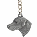 "Dog Breed Keychain USA Pewter - Chesapeake Bay Retriever (2.5"")"
