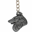 "Dog Breed Keychain USA Pewter - Collie (2.5"")"
