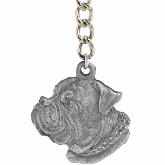 """Dog Breed Keychain USA Pewter - Dogue De Bordeaux (2.5"""")"""