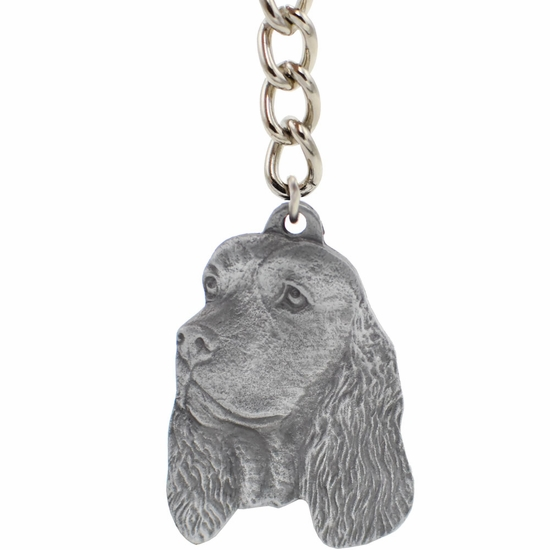 "Dog Breed Keychain USA Pewter - English Springer Spaniel (2.5"")"