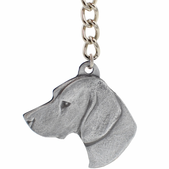 "Dog Breed Keychain USA Pewter - German Shorthaired Pointer (2.5"")"