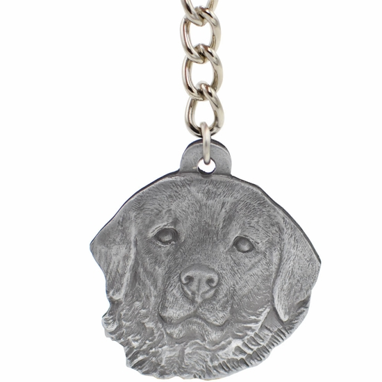 "Dog Breed Keychain USA Pewter - Great Pyrenees (2.5"")"
