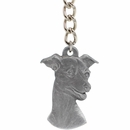 "Dog Breed Keychain USA Pewter - Italian Greyhound (2.5"")"