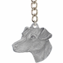 "Dog Breed Keychain USA Pewter - Jack Russell Terrier (2.5"")"